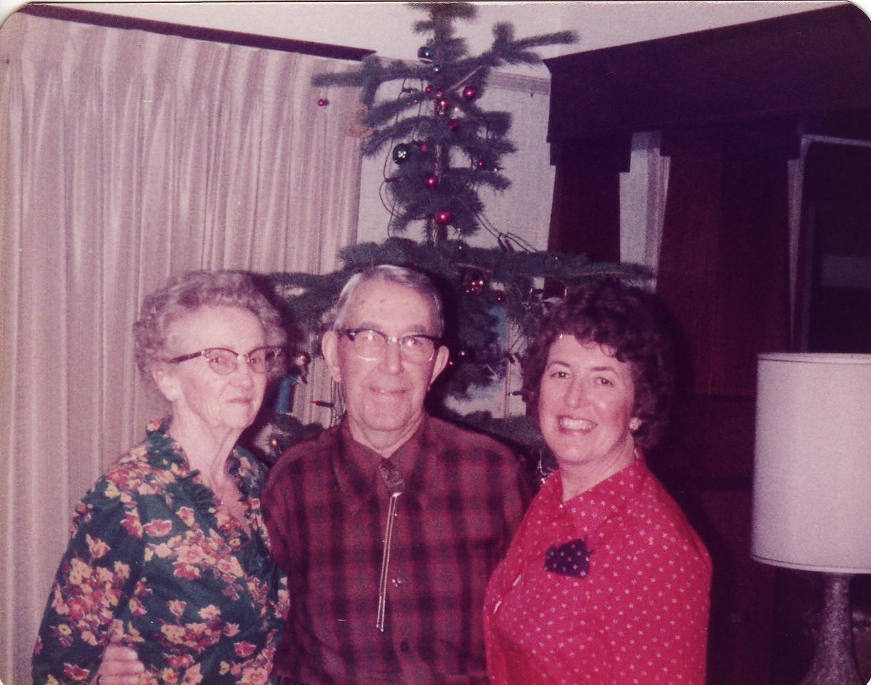 Gma and Gpa Saylor, Mom Christmas 1982, Ranch