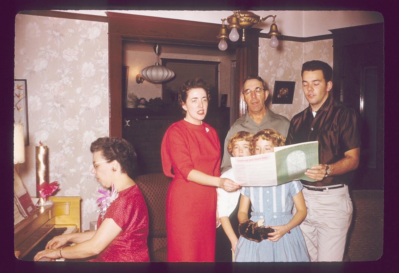 Mom, Saylors Christmas 1958